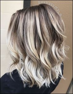 Cool icy ashy blonde balayage highlights, shadow root, waves and ...