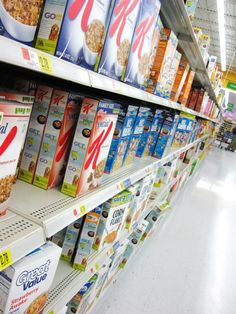 Walmart cereal isle