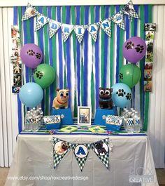 Puppy Dog Pals 1st Birthday | CatchMyParty.com #DogParty