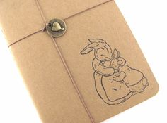 Peter Rabbit  Bunny Hug  Hand Stamped Small by TwoStrayCats