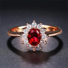 Ruby colour stone work Ring gold plated size 7 and 8 available Ruby Stone, Stone Gold, Colored Engagement Rings, Big Rings, Crystal Wedding, Crystal Ring, Gold Plated Rings, Wedding Rings For Women, Blue Crystals