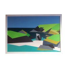 Kynance Cove acrylic on board, original painting by Paul Jackson