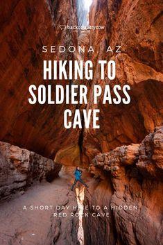 Wandern zu Soldat Pass Cave in Sedona, Arizona, Sedona Arizona, Arizona Road Trip, Arizona Travel, Hiking In Arizona, Oak Creek Canyon Arizona, Las Vegas Hotels, Monteverde, Sedona Hikes, Sedona Camping