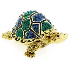 Green and Blue Turtle Trinket Box