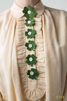 Shamrock button covers