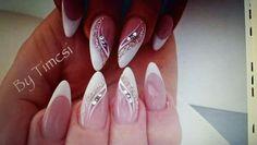 My nail s Bridal Nails, Wedding Nails, Ombre Nail Designs, Nail Art Designs, Metallic Nails, Acrylic Nails, Violet Pastel, The Violet, Nail Art Rhinestones