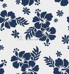 seamless hibiscus flower pattern photo