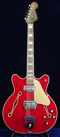 1966 Fender Coronado Been thinking about a hollow body for those solo gigs that I want to play a little lead over a loop.this one looks sweet! Guitar Solo, Guitar Art, Music Guitar, Cool Guitar, Acoustic Guitar, Fender Electric Guitar, Archtop Guitar, Fender Guitars, Gretsch
