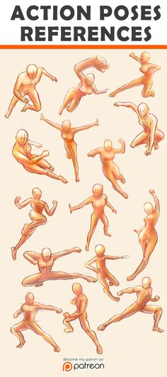 seioraiart:  For your art reference entertainment :D http://seiorai.deviantart.com/art/Action-Poses-Reference-Sheet-555003702