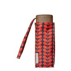 Orla Kiely | UK | Accessories | Umbrellas | Bi Colour Stem Tiny Umbrella (0UMBBCS495) | Navy & Red