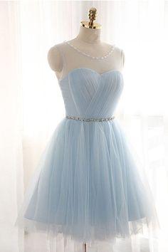2017 Homecoming Dress Lace-up Light Sky Blue Short Prom Dress Party Dress 0b002b963