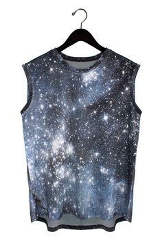 Hubble Galaxy Tank from Shadowplaynyc  | Galaxy Print Clothing