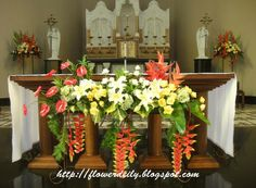 Church Decor for The Feast of Pentecost ~ flower daily blog