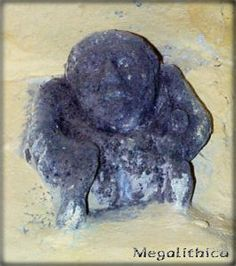 Sheela na Gig - St. Catherine's Church, Tugford, England.  If you look closely, she's sticking her tongue out (!).  Picture courtesy of John...