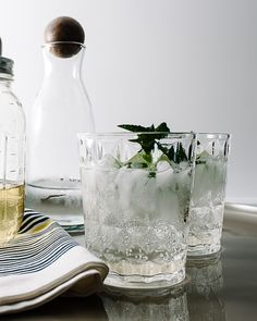 Lemongrass Mint Lime Spritzers
