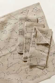 Sky Map Napkins - keeping it green in style