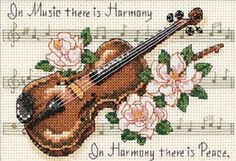 Amazon.com: Dimensions Needlecrafts Counted Cross Stitch, Music Is Harmony: Arts, Crafts & Sewing