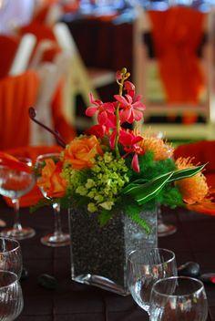 tropical fusion, coffee bean base  Angela Schoen onto Wedding Ideas