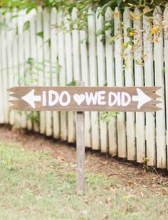 Adorable sign for the ceremony and reception. LOVE this!