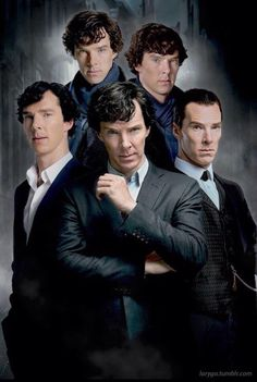 Sherlock through the seasons. Interesting how even with all the different styles, it's easy to see that they're all Sherlock, not just Benedict. He's an incredible actor, that everything about him transforms when he steps into a role.