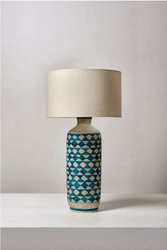 Guido Gambone; Glazed Ceramic Lamp, 1950s
