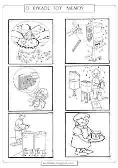 Los Niños: Ο ΚΥΚΛΟΣ ΤΟΥ ΜΕΛΙΟΥ Solar System For Kids, Story Sequencing, Life Cycles, My Children, Teaching, Comics, School, Blog, Animals