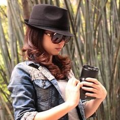 dress down a trilby with a denim jacket and shades