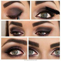 Sultry Smokey Deep Purple/Grey Eye Makeup - #eyeshadow #eyemakeup #makeup