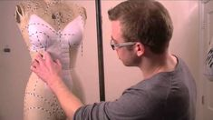 Learn how to create pattern pieces for your own custom corset, using a body form/ mannequin, Shoben design tape and iron on interfacing. seriously awesome tu...