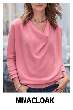 # Knitted fabric # daily / Leisure # autumn / winter / spring # Solid color # Long sleeve # Five colors #