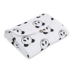 Moumout Wickelmatratze aus Baumwollmusselin Panda Rosa