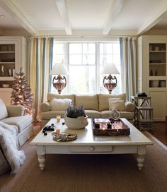 A Traditional Living Room With 1930s Glamor