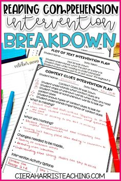 Reading Comprehension Interventions for the Elementary Classroom