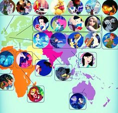 Disney Movie World Map.100 Best Disney Movies 333 Images Drawings Princesses Caricatures