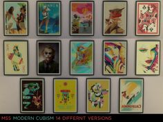 Simsworkshop : Modern Cubism Paintings