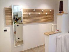 Ikea Mandal -bett-kopfteil-umbauen-wandgarderobe-wandhaken-anleitung-flur-spiegel-weisssimple