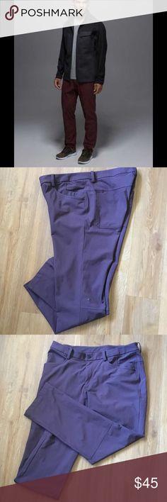 Lululemon men's abc pants Burgundy color size L Lululemon men's Burgundy pants size l in nice preowned condition ( sorry it's hard to capture this color on the photo ) lululemon athletica Pants Sweatpants & Joggers