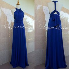 Convertible Dress Blue Wedding Dress Bridesmaid Dress Infinity Dress Wrap Dress Evening Cocktail Party Long Maxi Elegant Prom Bridal Dresses