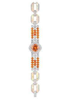 Louis Vuitton / Orange Sapphire / Diamond / and Opal bracelet.