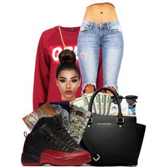 #richgang by ballislife on Polyvore featuring OBEY Clothing, MICHAEL Michael Kors and Fremada