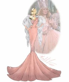 Michael_anthony_designs The Wizard of Oz Glenda the Witch of the North Disney Princess Fashion, Disney Princess Dresses, Princess Art, Disney Dresses, Disney Style, Arte Fashion, Fashion Show, Disney Girls, Disney Art