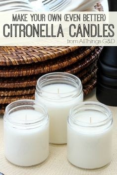 Make_Your_Own_Citronella_Candles to keep the bugs away while he grills :)