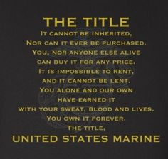 Here is a close up to what our Title Sweatshirt says. Shop our sweatshirts, long sleeves and short sleeve shirts at emarinepx.com. #marines #emarinepx #veteran #thetitle #sweatshirts Usmc, Marines, Marine Shop, Long Sleeve And Shorts, Hooded Sweatshirts, Sleeves, Cap Sleeves