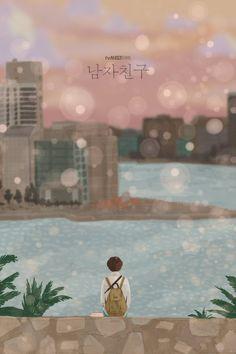 Kdrama, Korean Stickers, Anime Muslim, Korean Drama Movies, Korean Art, Bo Gum, Mood Pics, Disney Cartoons, Lovers Art