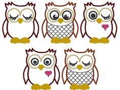 @ Mom......OWLs machine embroidery applique design