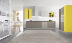 Contemporary Italian Kitchen ONEtouch by Euromobil