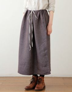 fog linen - erica:  long gathered skirt