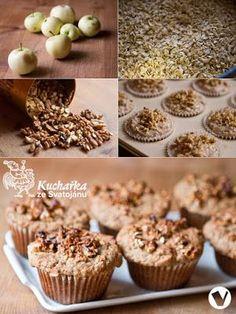 Kuchařka ze Svatojánu: OŘECHOVÉ MUFFINY Healthy Baking, Cereal, Breakfast, Food, Fitness, Organize, Syrup, Food Food, Morning Coffee