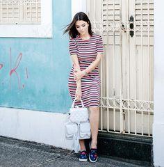 Stripes  patches @camarimmodaatual #rafinhagadelha #ootd #look ph: @igoormelo