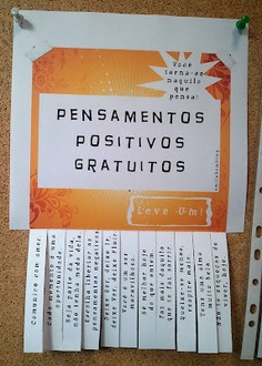 pensamentos positivos / positive thoughts poster  with downloadable file